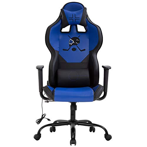Office Chair Ergonomic PC Gaming Chair Desk Chair Executive Task Computer Chair Back Support Modern Executive Adjustable Arms Rolling Swivel Chair for Adults,Blue