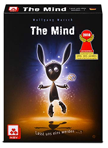 NSV NSV-08819908058 4059 The Mind - Juego de Cartas, Color carbón (08819908058)