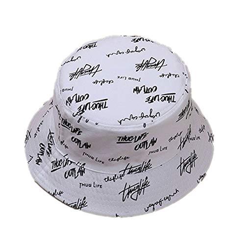 Letni kapelusz wiadro damskie litery czapka chroniąca przed słońcem - biała, Polska