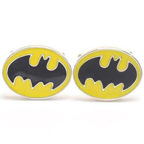 【カフスマニア】着けたら心もヒーロー バットマンマークのカフス(カフリンクス/カフスボタン) [ウェア&シューズ]
