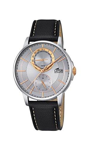 Lotus Reloj Analógico para Hombre de Cuarzo con Correa en Cuero 18323_1