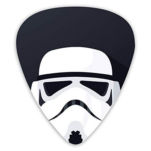 Juego de 12 púas de guitarra de Star Wars Stormtrooper de doble cara