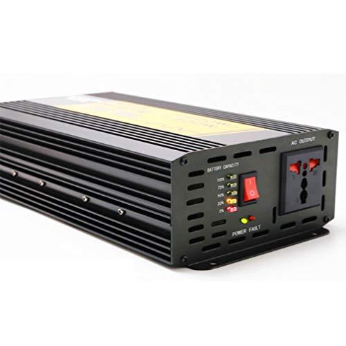 ZXF- Inversor De Corriente DC 12V A AC 220V Inversor De Onda Sinusoidal Modificada con Pantalla LCD, Tomas De Corriente Alterna