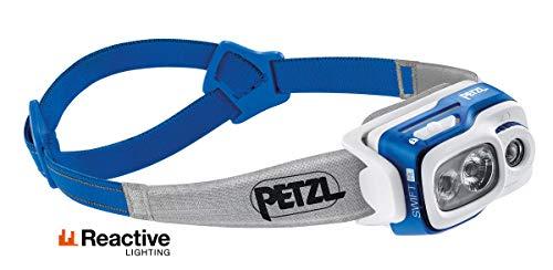 PETZL Unisex– Erwachsene Swift RL Stirnlampe, Blau, 8 x 8