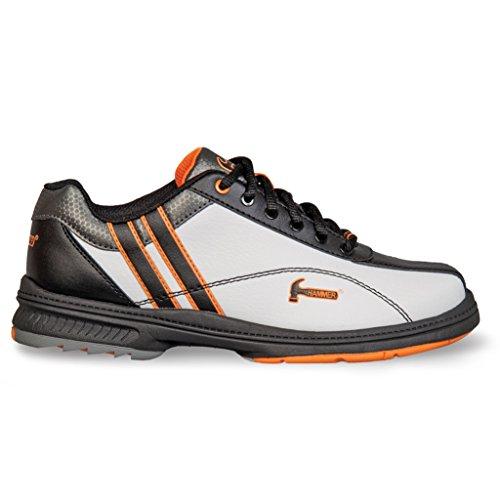 KR Strikeforce Women's Hammer Vixen Wide Width Bowling Shoes, White/Black/Orange, Size 8