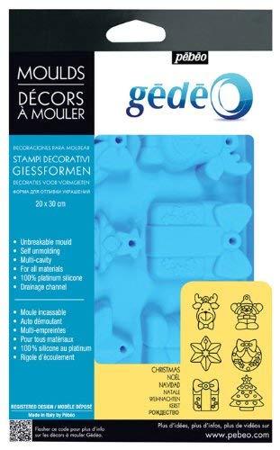 Gedeo - Stampo decorativo natalizio, 30 x 20 cm, colore: Blu