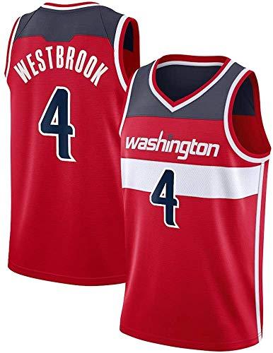 WHYYT Jerseys de la NBA de los Hombres - Washington Wizards # 4 Russell Westbrook Basketball Jersey, cómoda camionera de Malla Bordada Transpirable,XXL(185~190CM/ 95~110KG)