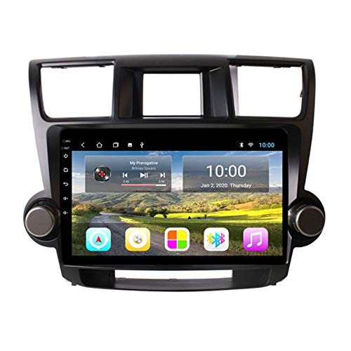 KCSAC 2 + 32 GB Fits para Highlander 2009-2014 Android Coche GPS Navigation Full Touch Radio DVD 9'Android 9 Player Multimedia