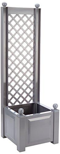 KHW Pfanzkasten mit Spalier 43 cm, grau, 43x43x140 cm, 37202