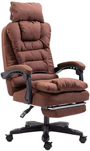 Silla de Oficina en casa Ejecutivo Silla de la computadora con el reposapiés y Soporte de la Cabeza - sillas ergonómicas giratoria Videojuegos Sillón