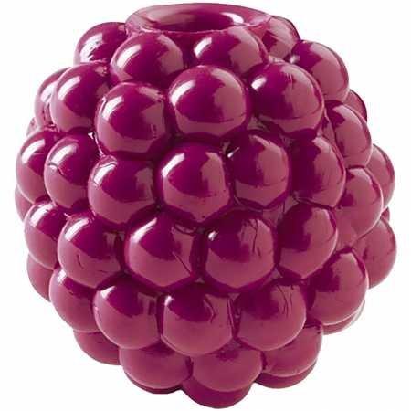 Planet Dog Orbee-Tuff Raspberry - Spielzeug für kleine Hunde - Himbeer-Form