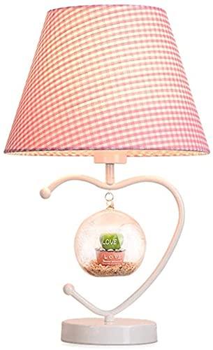HJW Lámparas de Mesa de Luz de Lectura Lámpara de Mesa Decorativa, Luz Nocturna Dormitorio de Noche Lámpara de Lectura Decoraciones de Mesa Lámpara de Mesa,Rosa