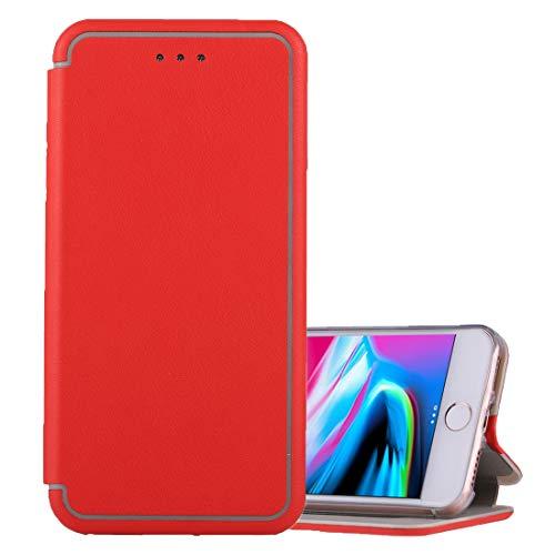 Cáscara del teléfono For iPhone 6 Plus y 6s Plus y Plus 7 y 8 Plus Ultra-delgada magnética Horizontal Flip funda de cuero a prueba de golpes protector con el sostenedor y ranura for tarjetas Funda pro