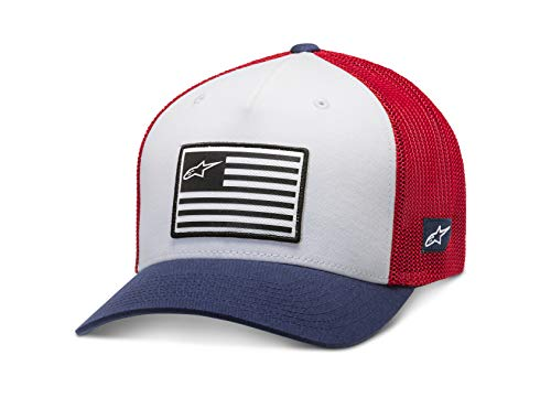 Alpinestars Sombrero De La Bandera Gorra de béisbol, Blanco, LXL para Hombre
