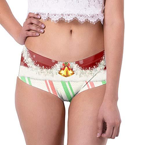 CLOOM Navidad Ropa Interior De Mujer Sexy Divertido Impresión Bragas Sin Costuras Señora Básico Suave y Cómodo...