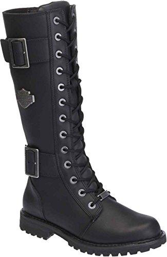 Harley-Davidson Women's Belhaven Knee-High Motorcycle Boots. D87082 (Black 9.5)