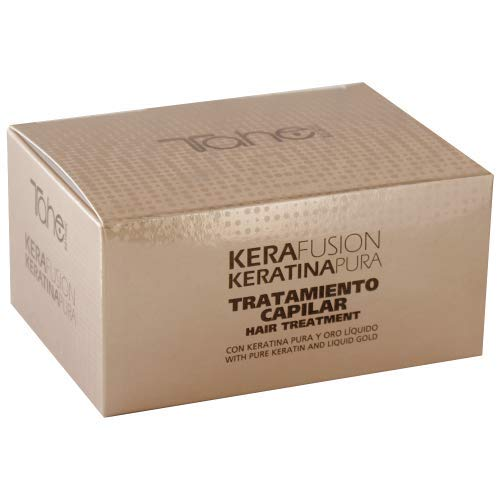 Tahe Kerafusion Tratamiento Prolongador del Efecto de la Keratina, Efecto Alisado y Antiencrespamiento, 5 x 10 ml