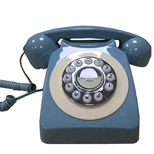 ZARTPMO Western Style Vintage Telephone Retro Telephone Botones de Marcado Clásico También una Decoración Clásica para Casa Oficina