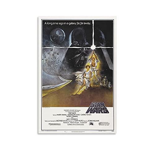 スターウォーズ1977映画アートポスター アートパネル キャンバス ポスター 壁アート 誕生日ギフト ホームアートワーク すぐに掛けられます08×12inch(20×30cm)