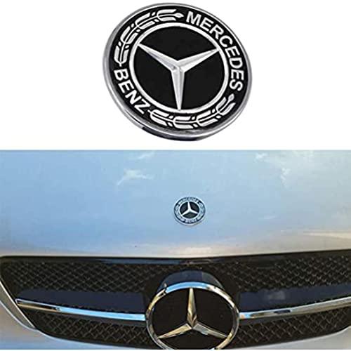 YFBB 3 Piezas de Coche, Metal, Plano, para vehículo, capó, Estrella, Emblema, Insignia, Volante, calcomanía, Adhesivo, Control Multimedia, calcomanía, para decoración de Clase Mercedes Benz