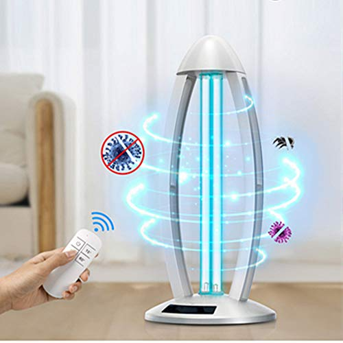 Unionon 38W Lampada di Disinfezione UV Sterilizzazione Lampada al Quarzo ad Ozono ad Alta Intensità -Con Purificatore d'aria Telecomando