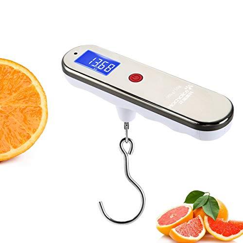 LICHUXIN Oksmsa Alta Precisión Balanza Electrónica Mini Báscula Portátil 50kg/10g Balanza De Equipaje con Bateria Cargada por Compras Viaje