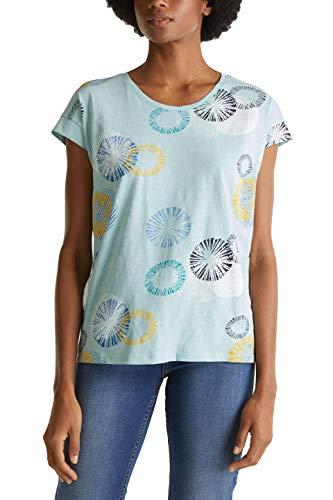 ESPRIT Damen 030EE1K338 T-Shirt, 390/LIGHT Aqua Green, S