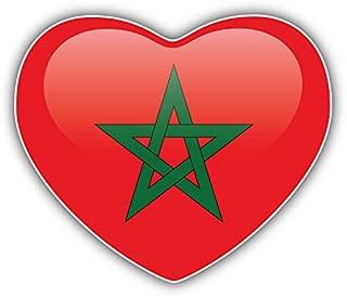 KW Vinyl Magnet Morocco Flag Glossy Heart Truck Car Magnet Bumper Sticker Magnetic 5