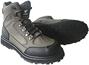 8 Fans Men's Fishing Hunting Wading Shoes Anti-Slip Durable Rubber Sole Lightweight Wading Waders Boots (US 9#)