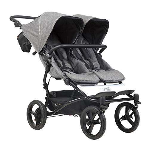 Poussette double Mountain Buggy Duet luxury collection herringbone