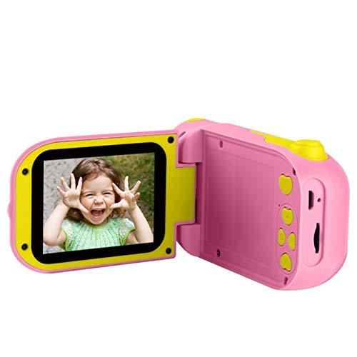 LORIEL Cámara De Video para Niños De 12MP, Cámara Digital para Niños, con Pantalla De IPS De 2.4 Pulgadas / 4X Zoom Digital/Video Digital Zoom / 1080P, para Niño,Rosado