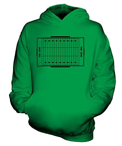 Candymix American Football Spielfeld Unisex Kinder Jungen/Mädchen Kapuzenpullover, Größe 3-4 Jahre, Farbe Grün