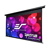 Elite Screens 125' Spectrum Electric Motorized Projector Screen, Diag 16:9, Moiré-Free, Sound Transparent Perforated Weave 4K Ready Drop Down