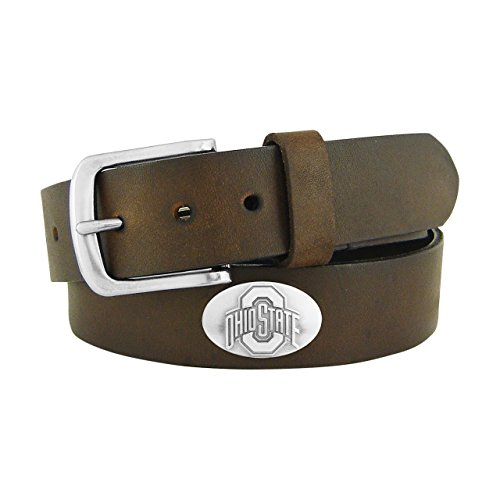 NCAA Texas Tech Red Raiders Light Crazy Horse Leather Concho Belt