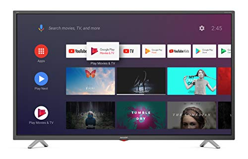 "Sharp Aquos 4T-C40BL3EF2AB - 40"" Smart TV 4K Ultra HD Android 9.0, Wi-Fi, DVB-T2/S2, 3840 x 2160 Pixels, Nero, suono Harman Kardon, 4xHDMI 3xUSB, 2019"