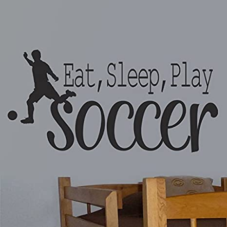 Details about  /Best You Can Soccer Sport Quotes Vinyl Wall Art Sticker Home Room Gym Wall Decal