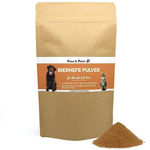 Paws & Patch reines BIERHEFE Pulver für Hunde & Katzen, natürlich reich an B-Vitaminen, idealer Barf- oder Futterzusatz, Vitamin-B-Komplex, 350 g