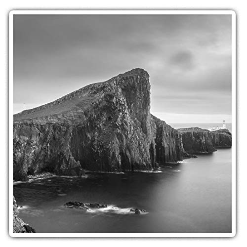 Awesome Square Stickers (Set of 2) 7.5cm BW - Neist Point Isle of Skye Scotland Fun Decals for Laptops,Tablets,Luggage,Scrap Booking,Fridges,Cool Gift #37301
