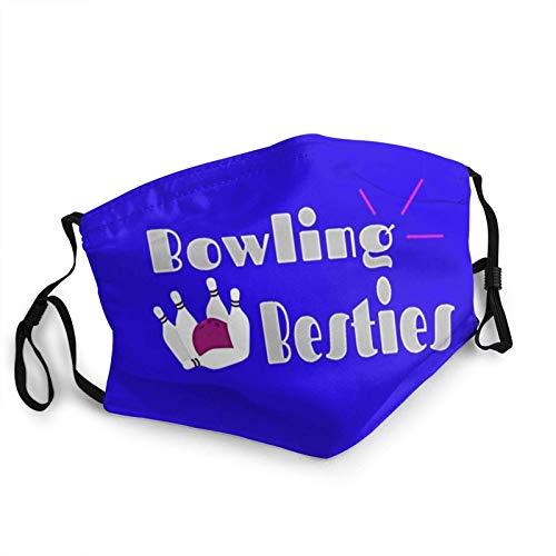 Bowling Besties Freund Liebhaber Gesichtsschutz Bandana Schal Wiederverwendbarer Schutz