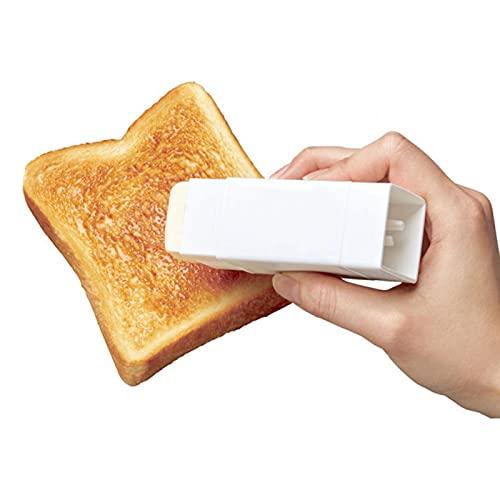 ALEOHALTER Rozsiewacz masła, uchwyt na maślan pojemnik na patyk kukurydza opiekanie masło naczynie z pokrywką wielokrotnego użytku rozsiewacz masła serowego na naczyniach kuchennych, naczynia do pieczenia