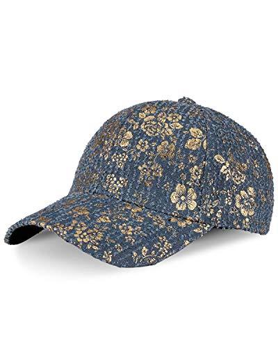 LIVACASA Baseball Cap Herren Damen Verstellbar Basecap Luftlöchern Sonnenschutz Damen Baseballkappe Cap Unisex Mütze Baumwolle Cappy für Sport Reisen Draußen Blummen Hellblau