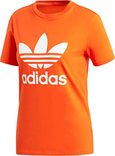 adidas Trefoil Tee, T-Shirts Donna, Orange, 40