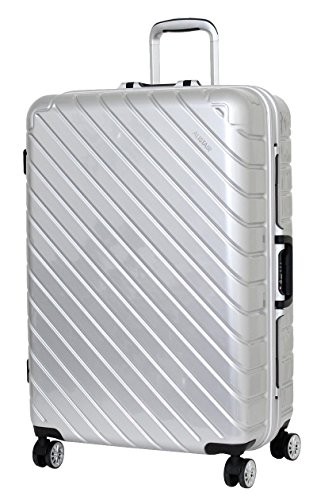 Valise Grande Taille 75 cm Alistair Infinity - Abs Ultra Légère - 4 Roues - Argent