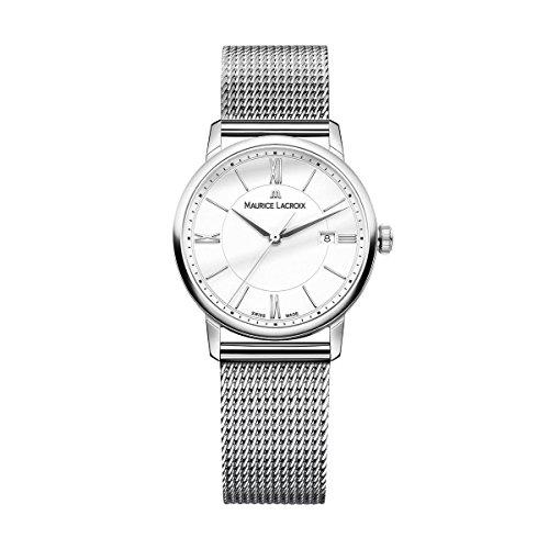 Maurice Lacroix Damen Analog Quarz Uhr mit Edelstahl Armband EL1094-SS002-110-2