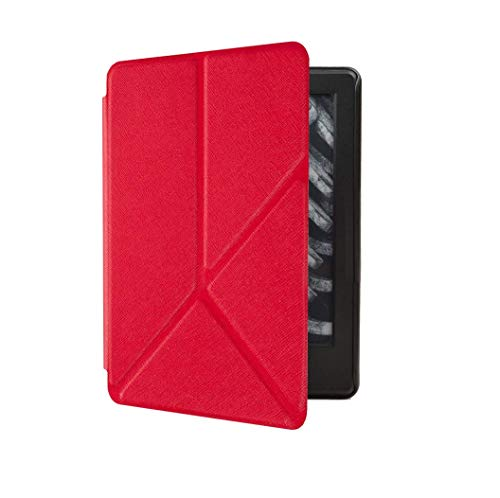 Capa Kindle Paperwhite 10ª geração à prova d'água - Função Liga/Desliga - Fechamento magnético - Origami - Vermelha
