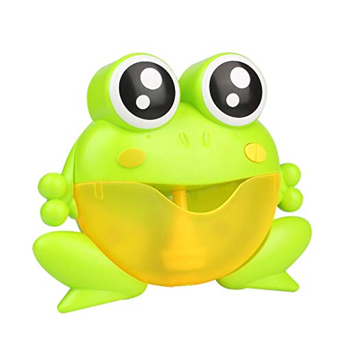 Toxz Bubble Machine Big Frogs Automatic Bubble Maker Blower Music Bath Toy for Baby,Toddler Bathtub Toy,with Suction Cup,Safe Material