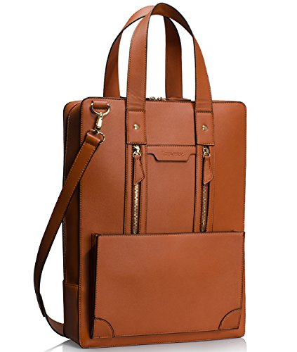 Estarer Women Business Briefcase Handbag PU Leather 15.6 Inch Shoulder Laptop Work Bag