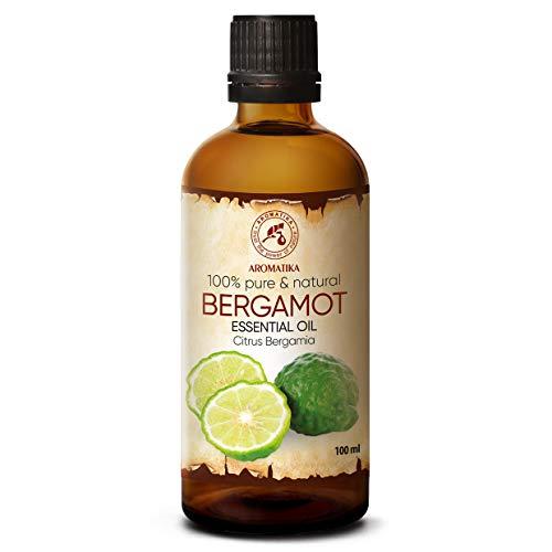 Olio Bergamotto 100ml - Citrus Bergamia - Aromaterapia - Olio Essenziale di Bergamotto Puro 100% - Cura della Pelle & Capelli...