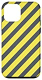 iPhone 12 mini Black Blazing Yellow Color Stripes Case