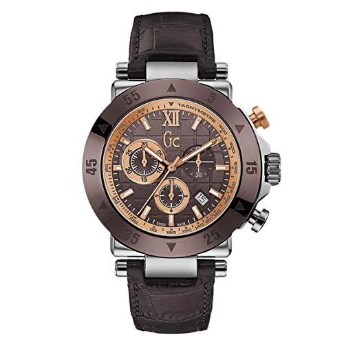 Guess x90019g4s Hombres del Deporte Chic GC-1marrón correa reloj cronómetro